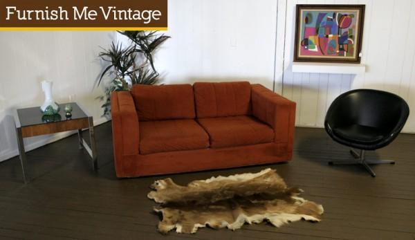 1970s retro selig pit group modular sofa love seat