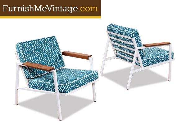 restored mid century modern outdoor chair