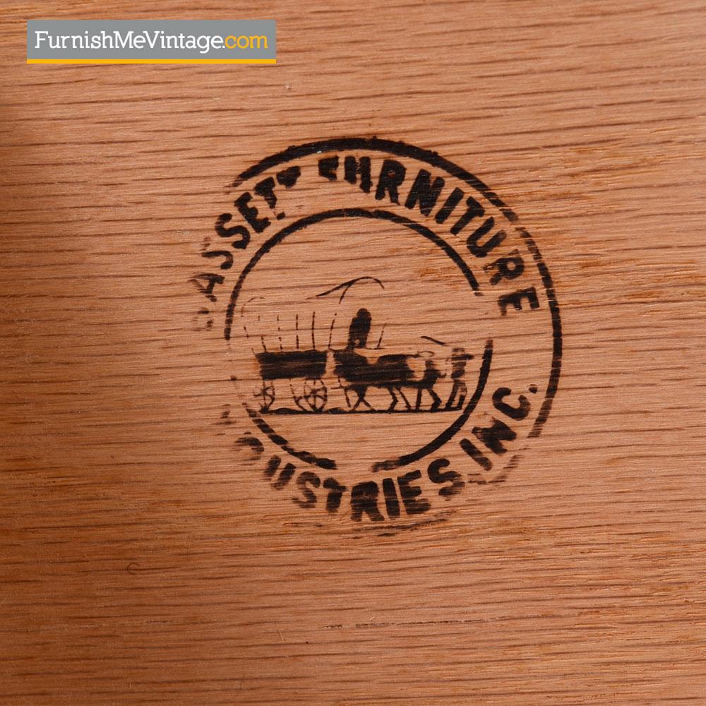 mid century modern walnut 9 drawer dresser by bassett