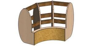3d модель каркаса угловой секции дивана