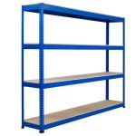 Rapid 1 Heavy Duty Shelving With 4 Chipboard Shelves 2440wx2440h Blue