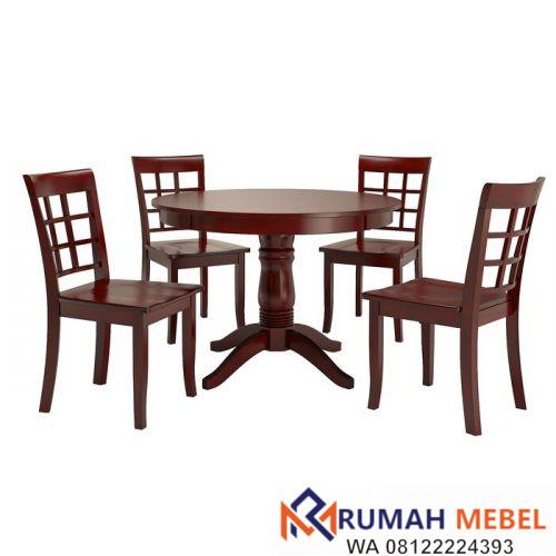 Meja Bundar Cafe Oneil Kayu Jati