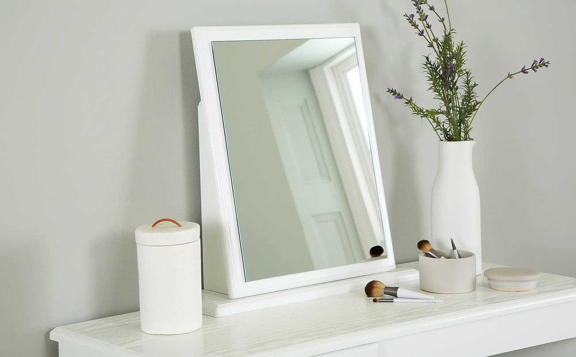 Pembroke White Small Dressing Table Mirror Furniture And Choice