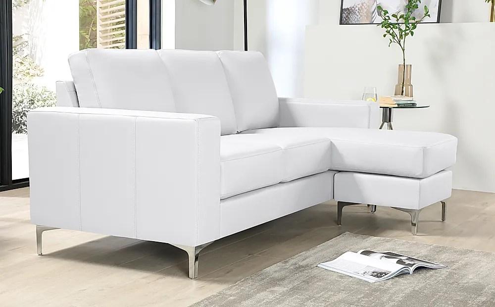 baltimore white leather l shape corner sofa