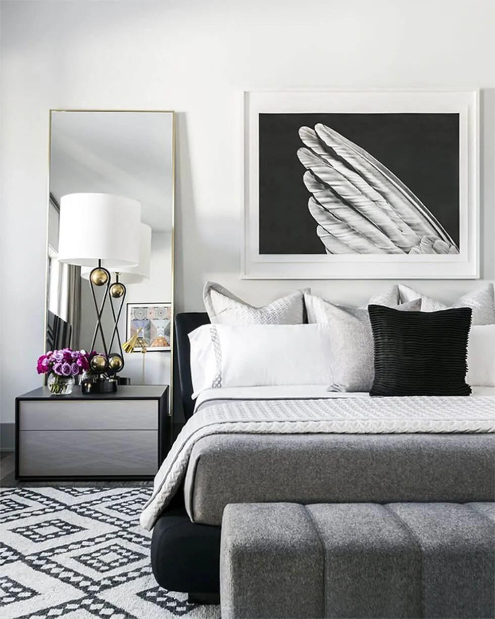 stylish black and white bedroom ideas