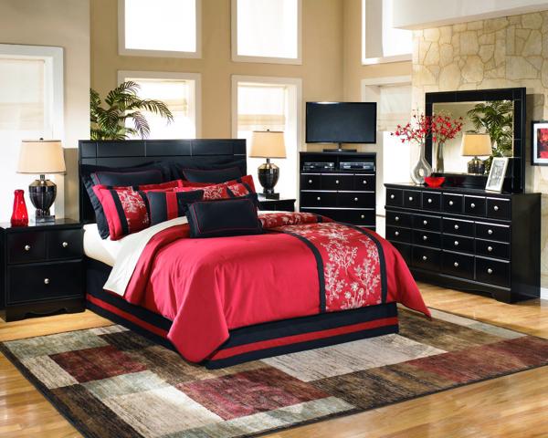 shay 4 piece queen headboard bedroom set