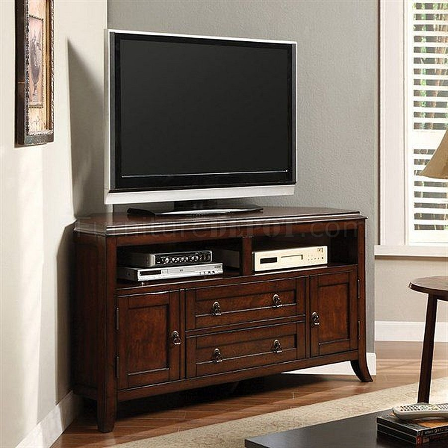CM5305 Sterling Corner TV Console In Dark Cherry
