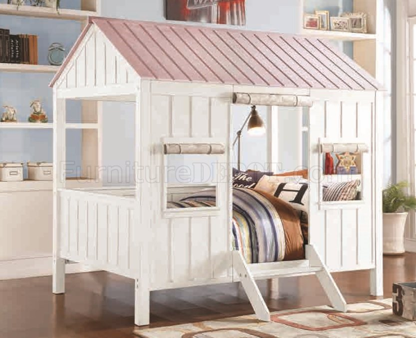 Spring Cottage 37695F Full Bed In White Amp Pink By Acme