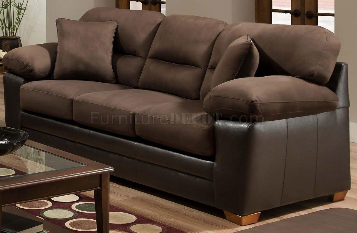 brown godiva microfiber sofa loveseat