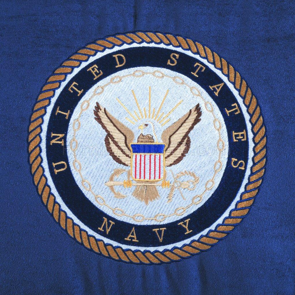 Blue Fabric Modern Rocker Recliner WUS Navy Emblem