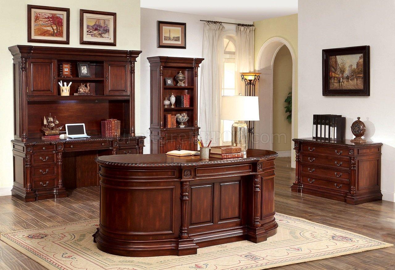 Roosevelt CM DK6252OD Oval Office Desk In Cherry WOptions