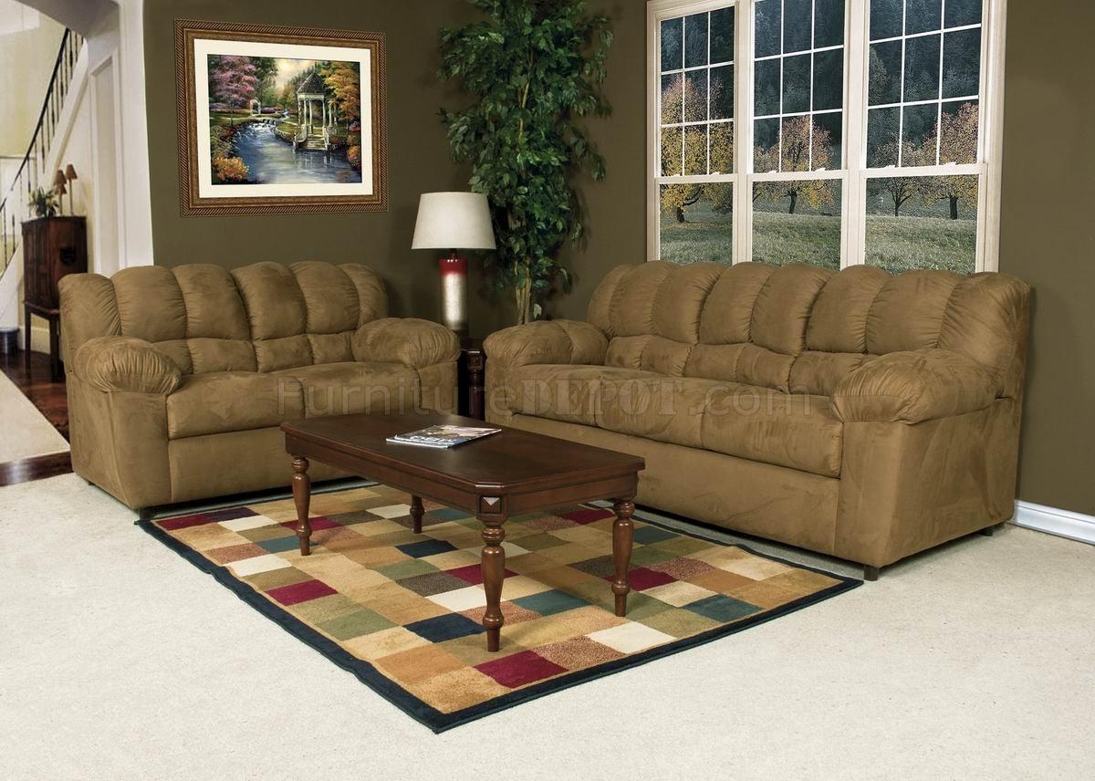 Sierra Camel Fabric Modern Loveseat Amp Sofa Set W Options