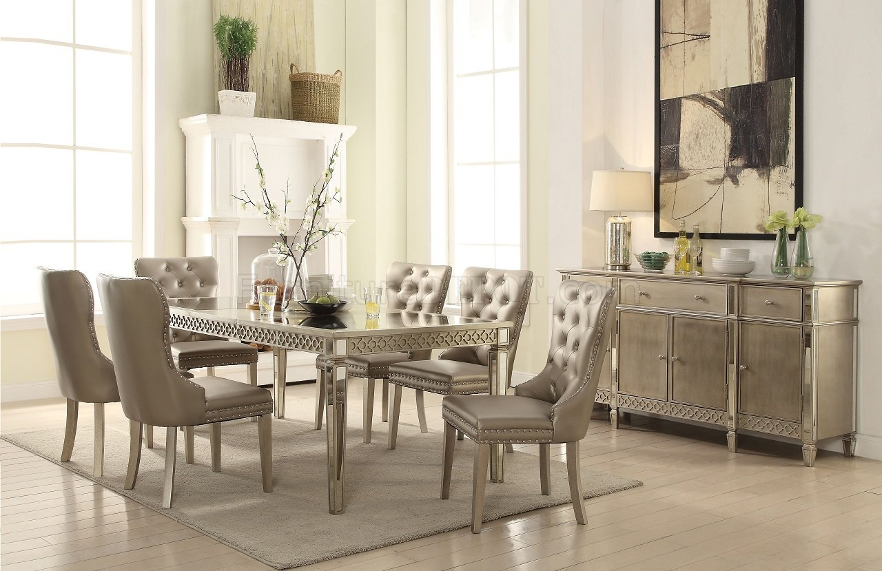 Kacela 5Pc Dining Set 72155 In Champagne By Acme WOptions