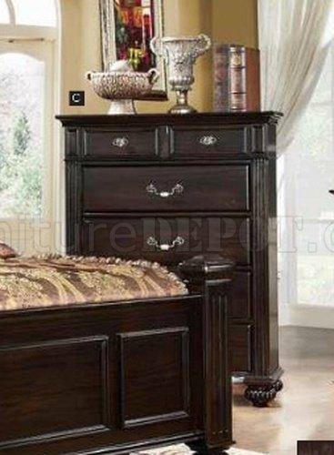 CM7129 Syracuse Bedroom In Dark Walnut