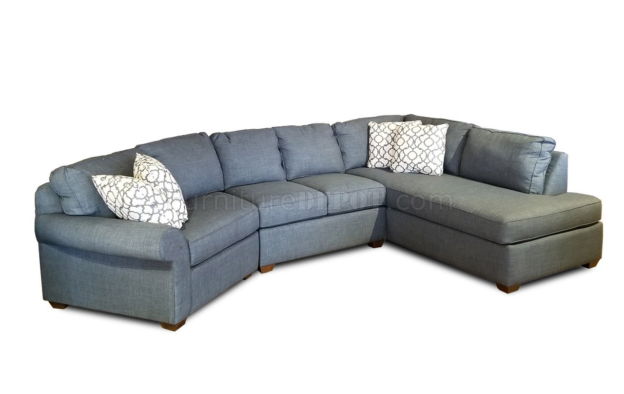 troupe cuddler sectional sofa k51300 in