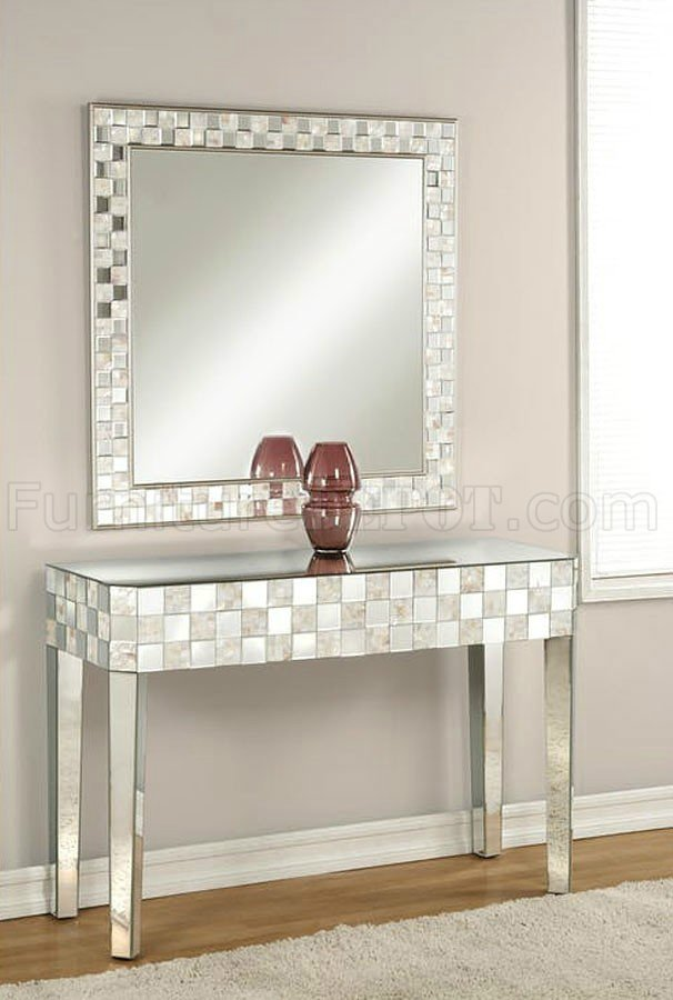Nasa Console Table Amp Mirror Set 90244 In Mirrored Amp Pearl