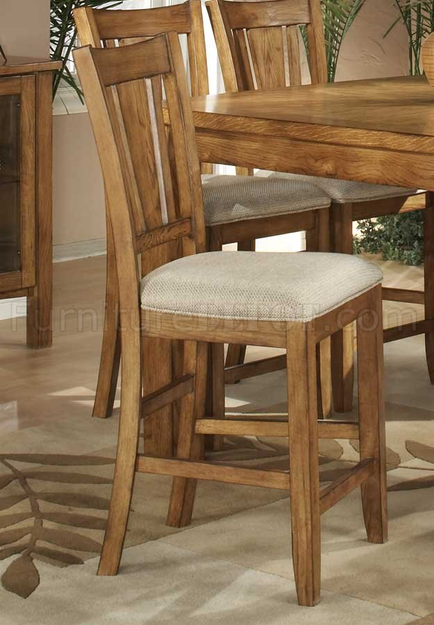 Light Oak Finish Counter Height Casual Dinette Table WOptions