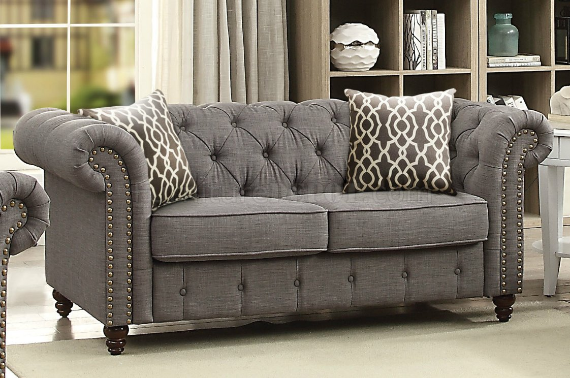 Alianza Sofa 53690 In Dark Gray Fabric By Acme WOptions