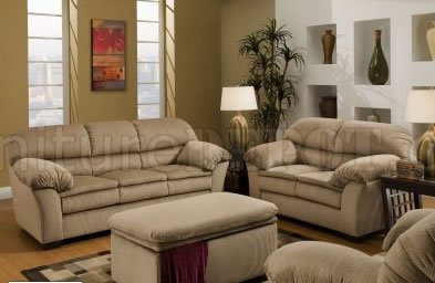 beige microfiber sofa loveseat set w