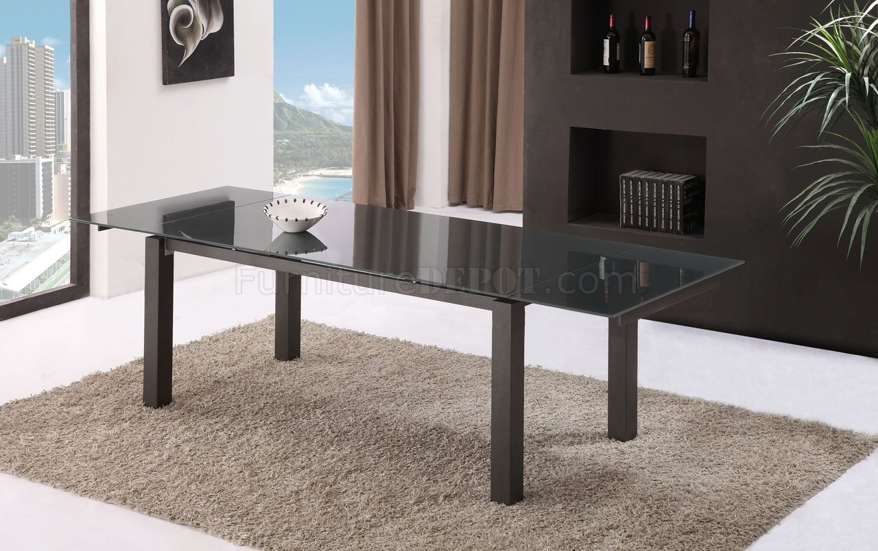 Novecento Extendable Dining Table In Dark Gray By Casabianca