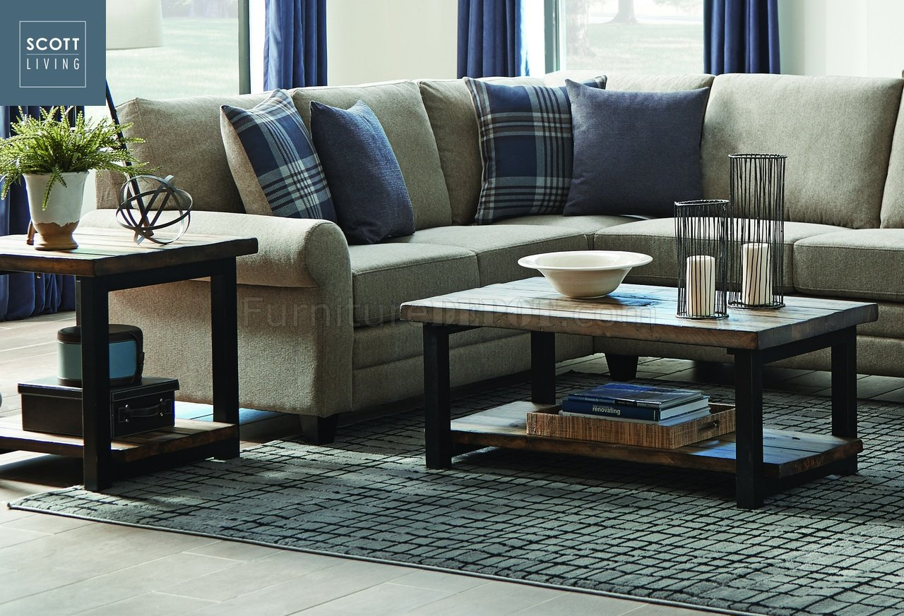705678 Scott Living Coaster Rustic Brown Coffee Table