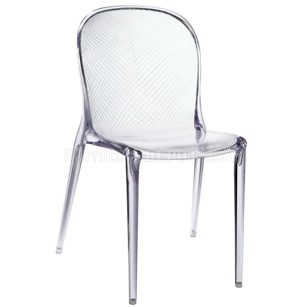 Scape Dining Chair Set Of 4 In Clear Acrylic By Modway
