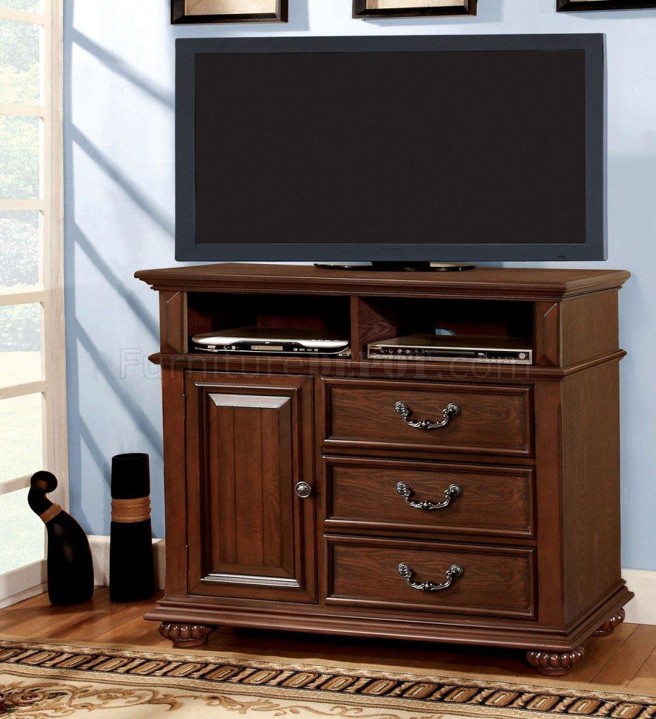 CM7811 Landaluce TV Stand In Antique Style Dark Oak