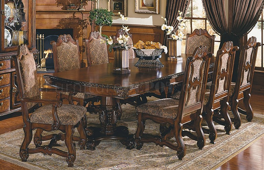 30028 Dining Table In Dark Pecan By World Imports WOptions