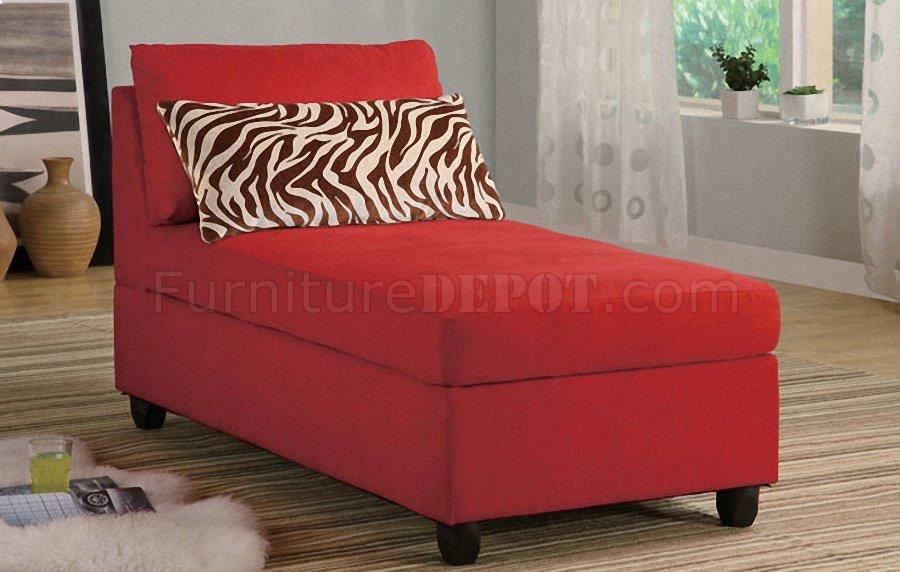 red microfiber plush contemporary