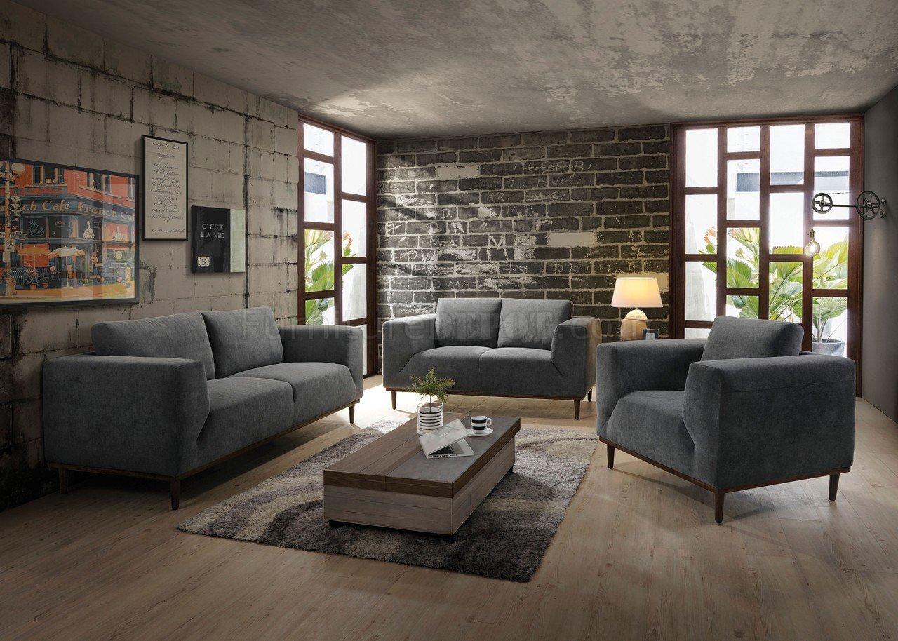 Lunaville Sofa 54210 In Dark Gray Fabric By Acme WOptions