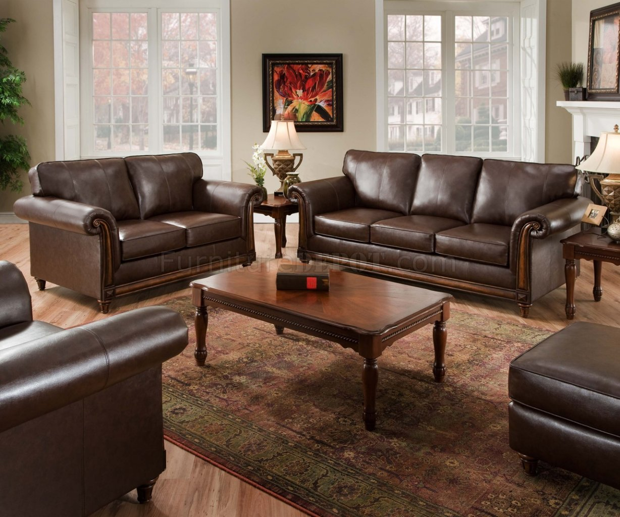Coffee Soft Bonded Leather Sofa Amp Loveseat Set WOptions