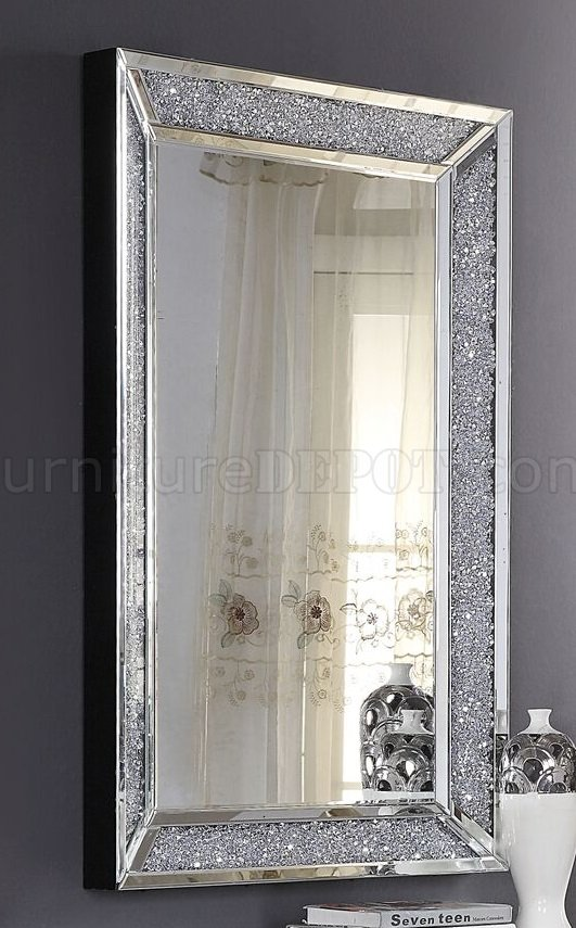 Noralie Console Table WMirror 90450 In Mirror By Acme