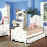Flora 4pc Youth Bedroom Set 1680t In White By Acme W Options