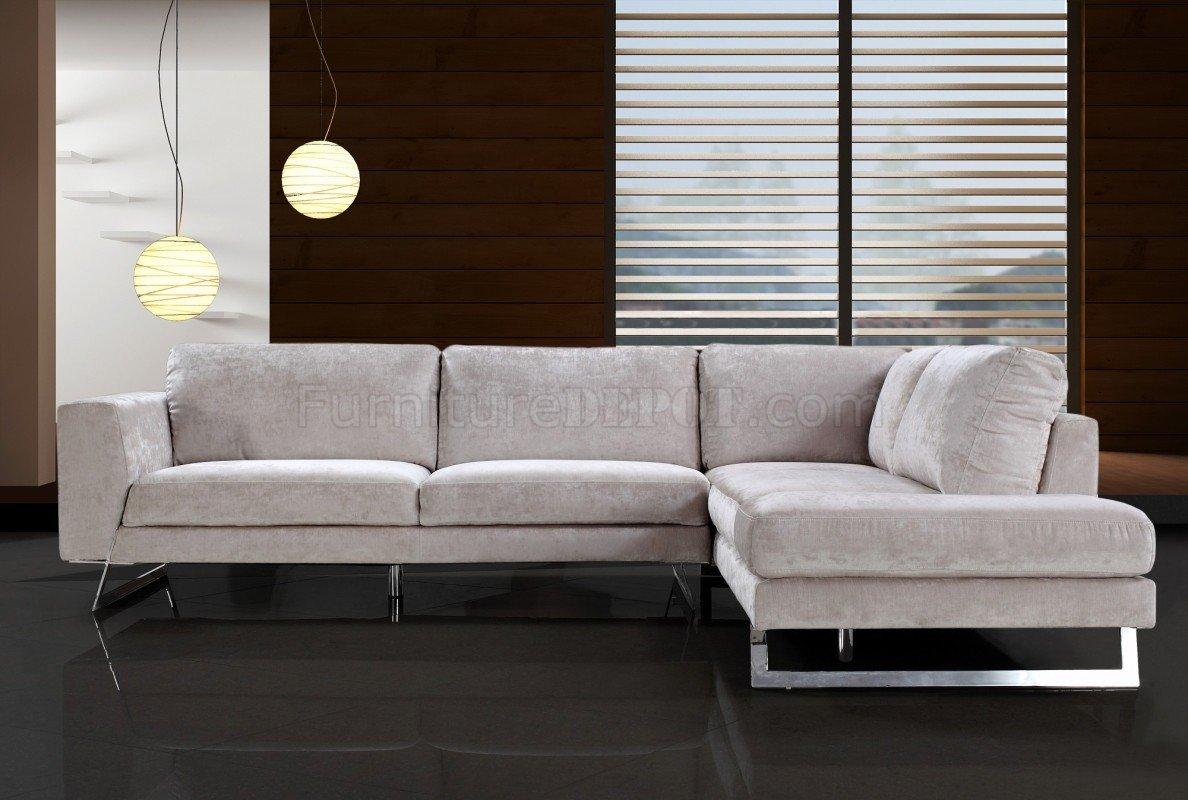 beige microfiber modern sectional sofa
