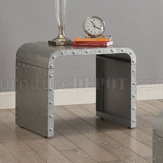 704348 coffee table in galvanized metal
