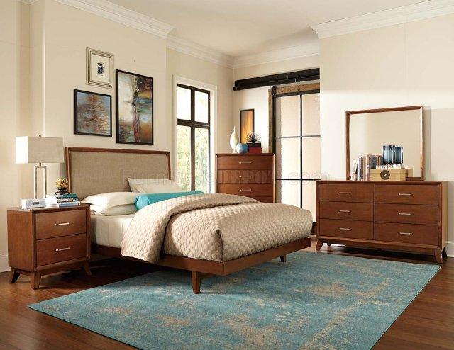 2278 Soren Bedroom Set by Homelegance in Light Cherry
