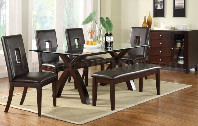 2040 Modern Dining Table In Dark Brown By Poundex