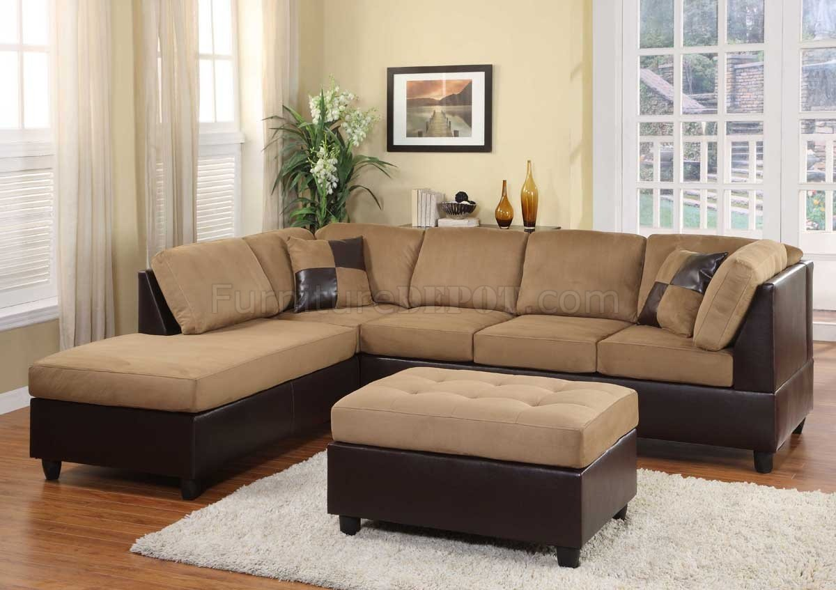 comfort sectional sofa in light brown