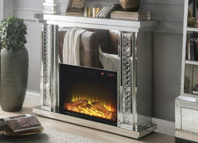 Nysa Fireplace 90254 In Mirror By Acme W Adjustable