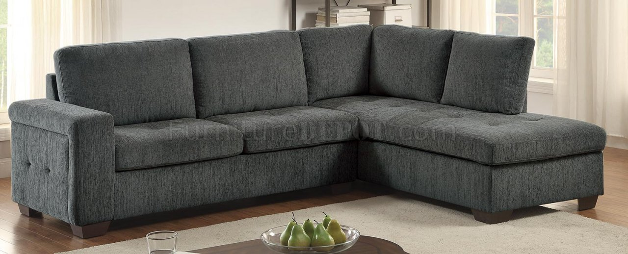 calby lane sectional sofa 8433 in grey