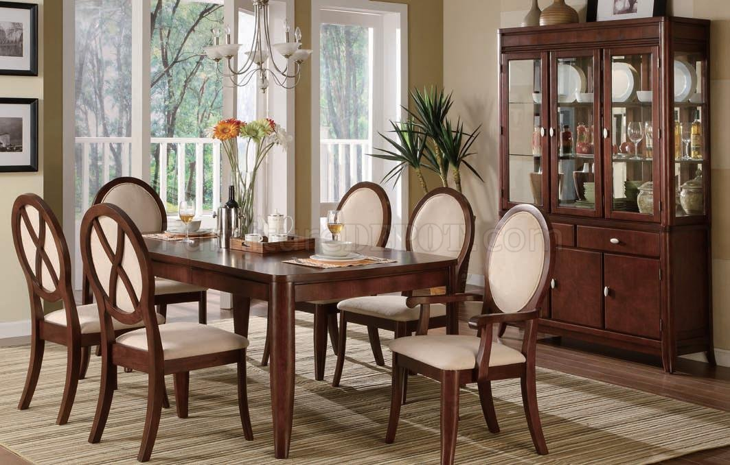 Brown Cherry Traditional Formal Dining Table WOptional Items