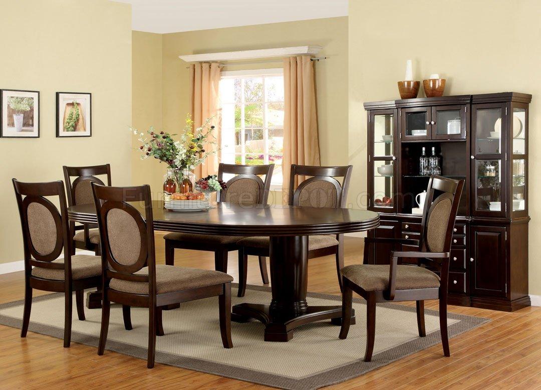 CM3418T Evelyn Dining Table In Dark Walnut WOptional Items