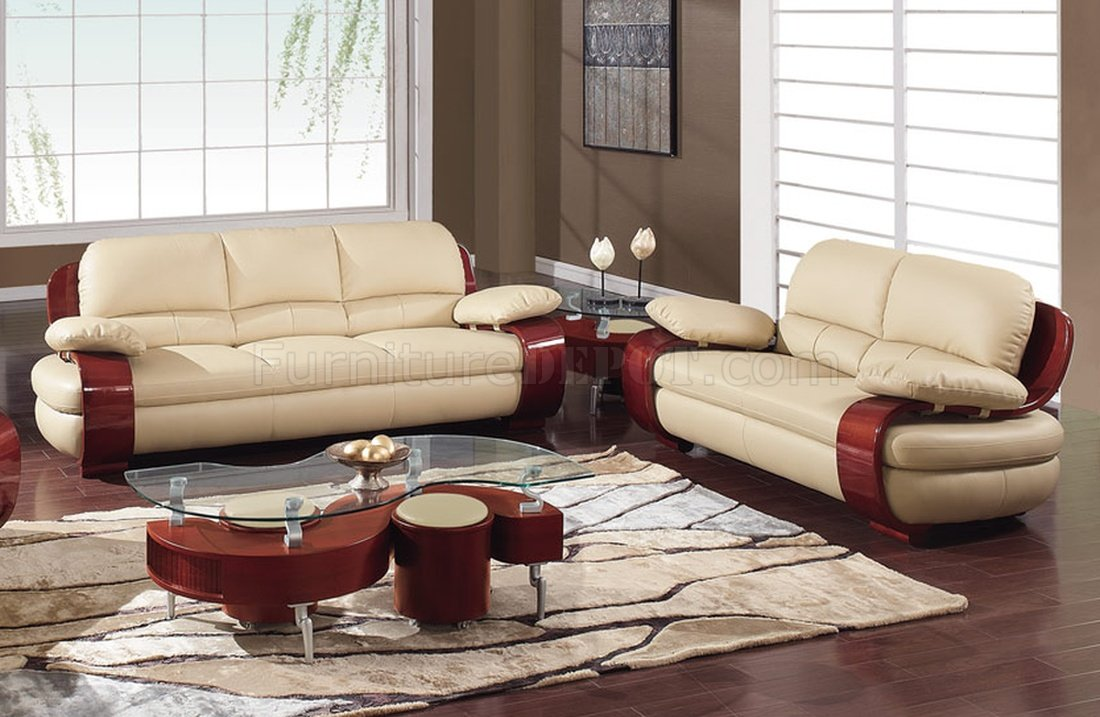 965 Sofa Loveseat Set In Leather By Global Furniture Usa