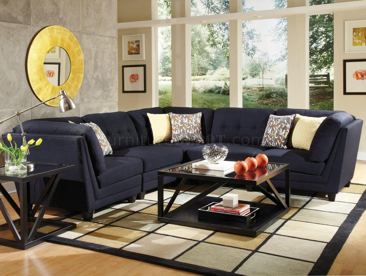 Keaton Sectional Sofa 5Pc 503451 By Coaster In Fabric
