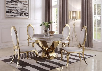 Kendall Dining Table 190381 In Gold By Coaster WOptions