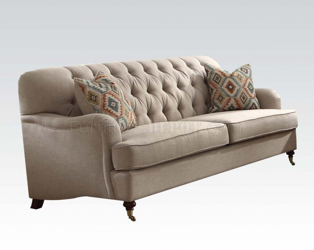 Alianza 52580 Sofa In Beige Fabric By Acme WOptions