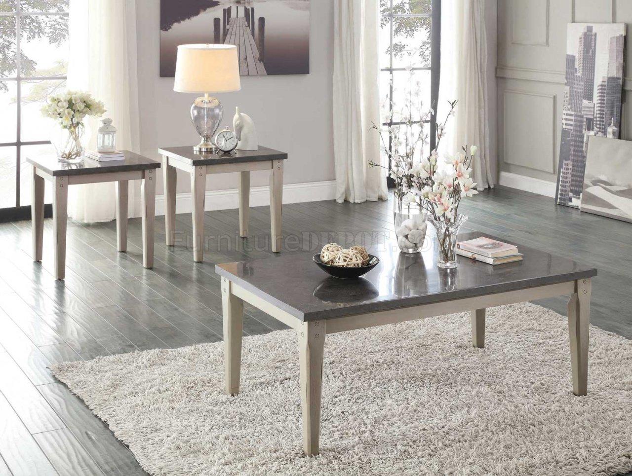 Mendel 5280 Coffee Table 3Pc Set In Grey By Homelegance