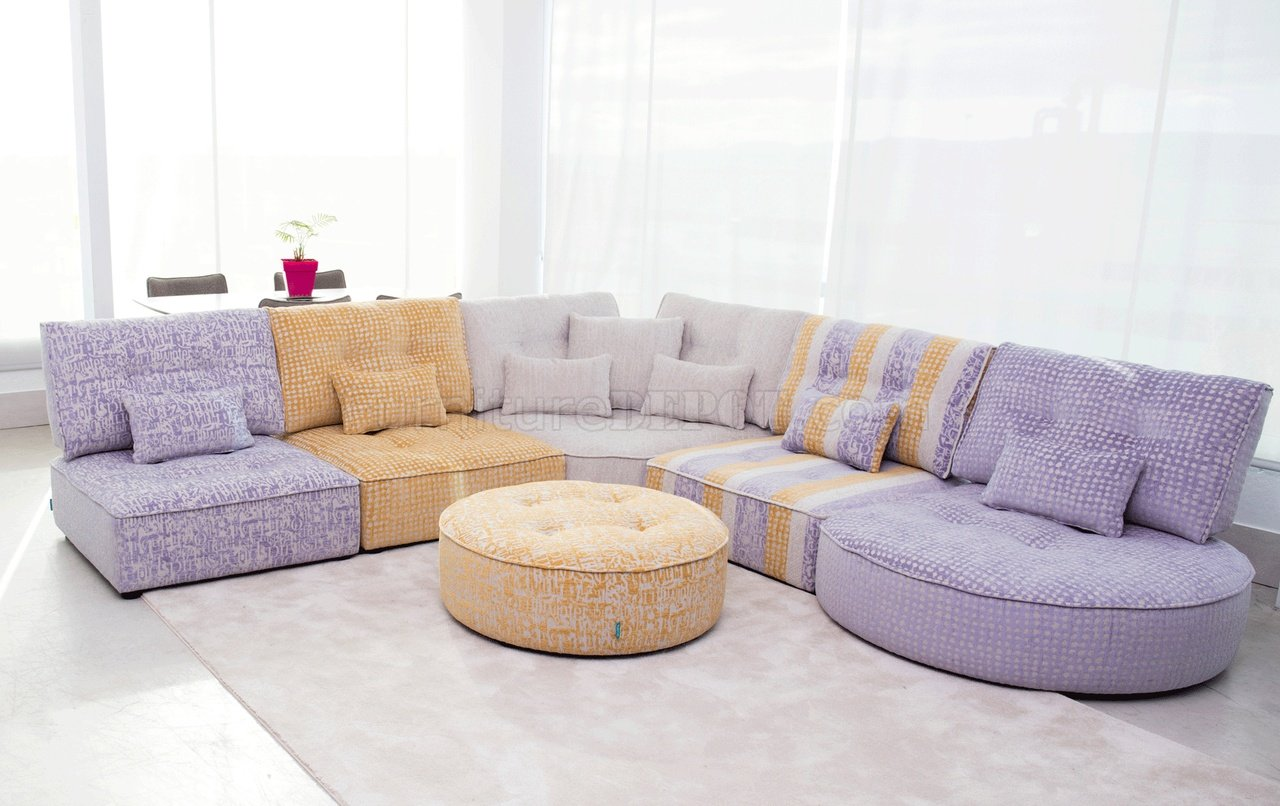 ariel sectional sofa in multi color