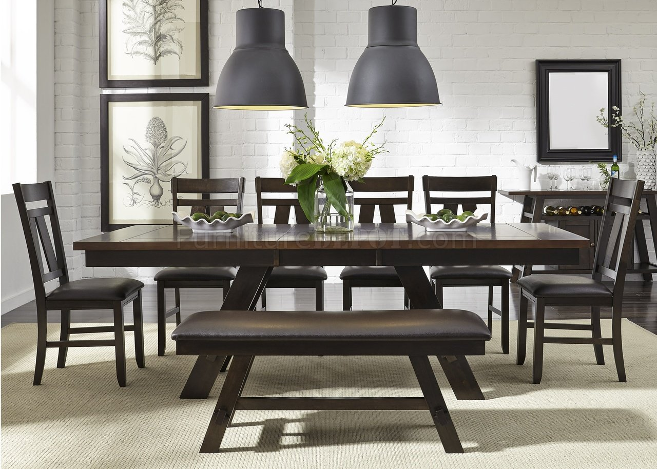 Lawson Dining Table 5Pc Set 116 CD In Espresso By Liberty