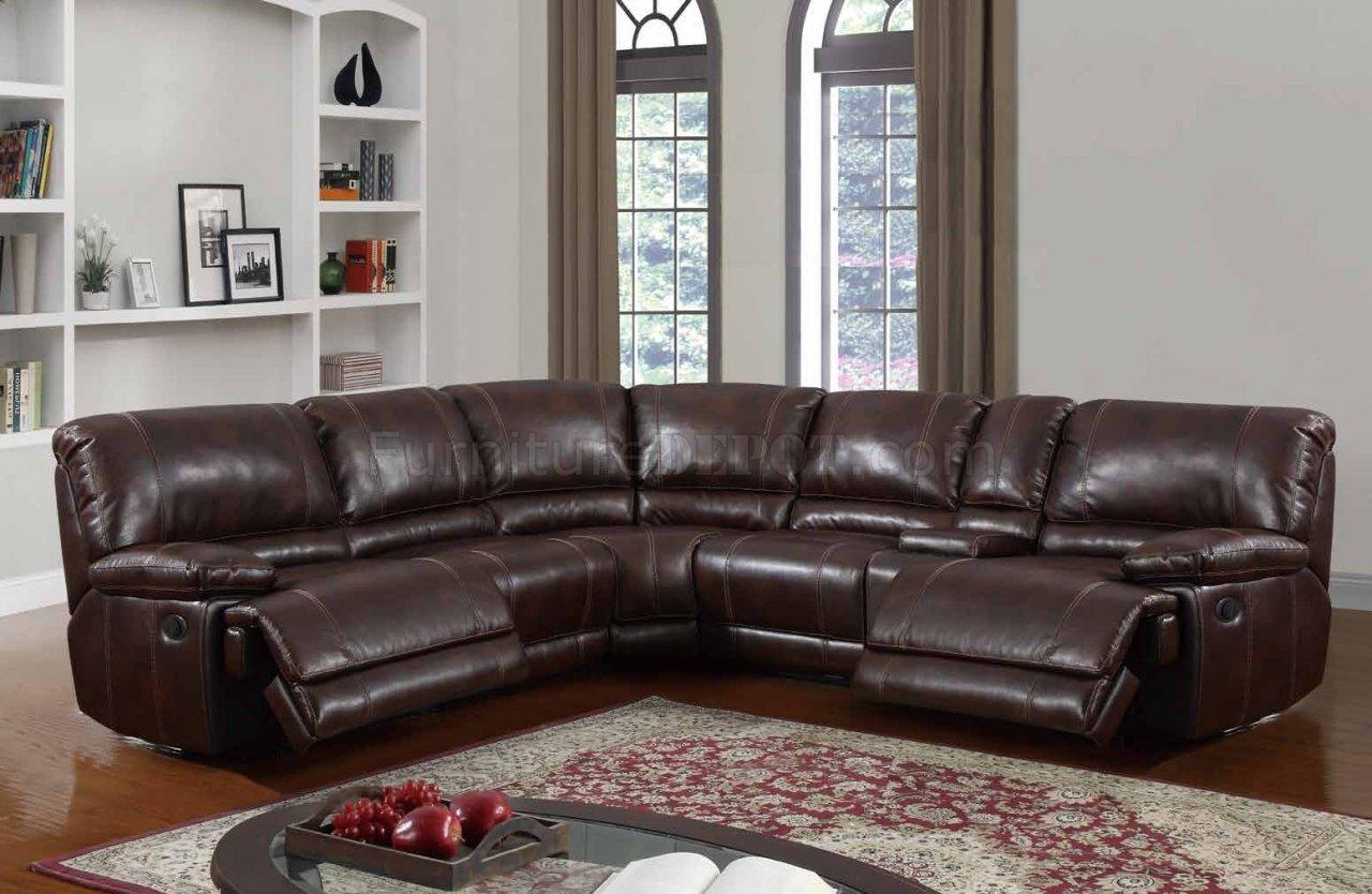u1953 power motion sectional sofa brown